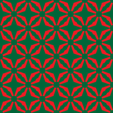 A Seamless abstract red green pattern Illustration