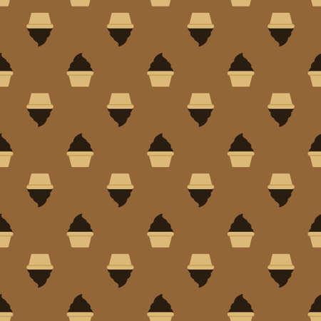 White cream choco cake seamless pattern Stock Vector - 97467524