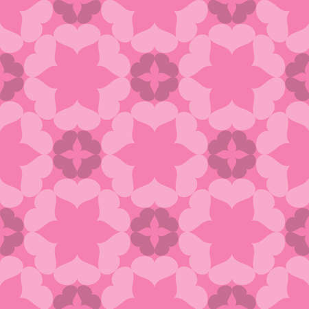 A Seamless abstract art pink pattern