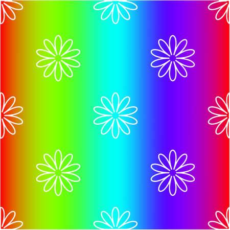 Bright rainbow mesh vector background