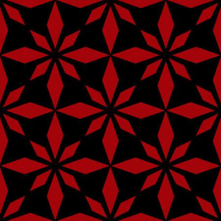 Art abstract geometric dark red black pattern Stock Vector - 97529800