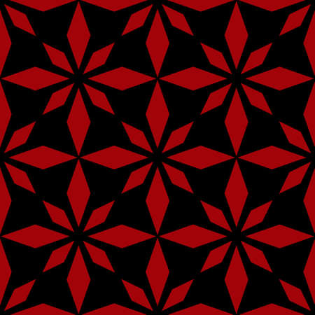 Art abstract geometric dark red black pattern