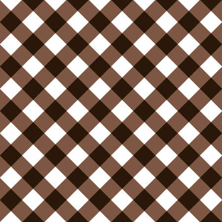 Squares textile seamless pattern brown colors Stock Vector - 97711596
