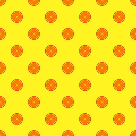Orange fruit seamless pattern. Vectores