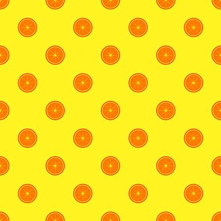 Orange fruit seamless pattern. Illustration