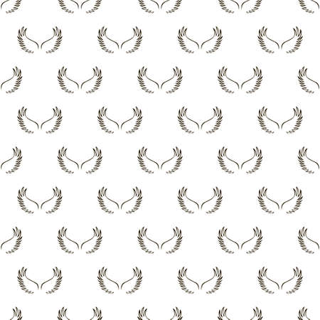 Angel white wings sketch seamless pattern.