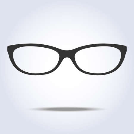 Glasses icon on gray background