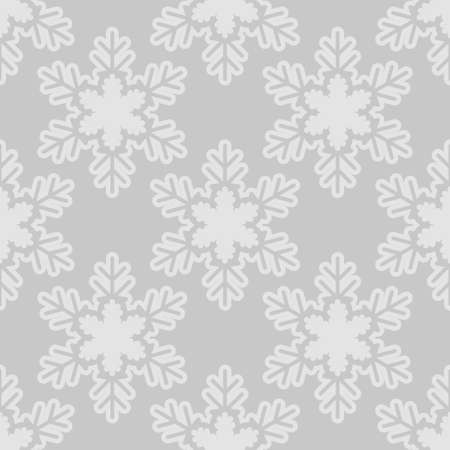 A Seamless pattern with snowflakes gray white