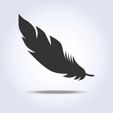 Feather icon in gray colors Illustration