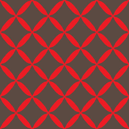 A Seamless abstract grid gray red pattern