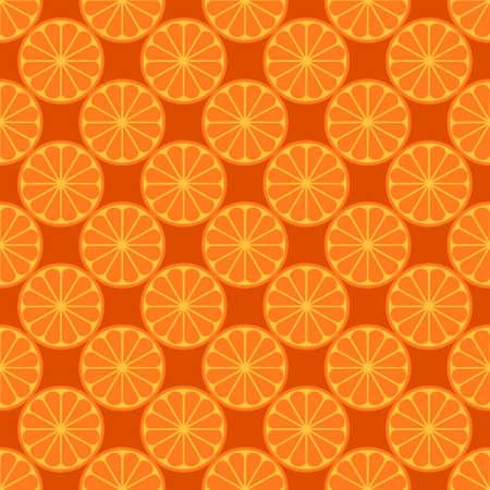 Orange fruit seamless bright pattern Vector illustration.