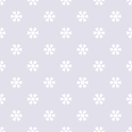 Seamless pattern with snowflakes gray white Illustration