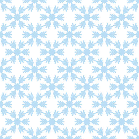 Seamless pattern with snowflakes on white background. Vector Illustration Illustration