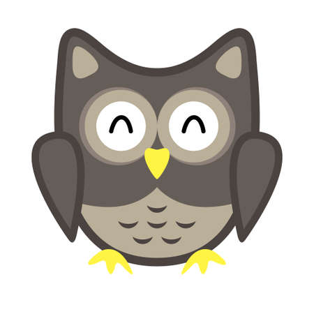 Owl stylized icon nature colors Stock Vector - 101642516