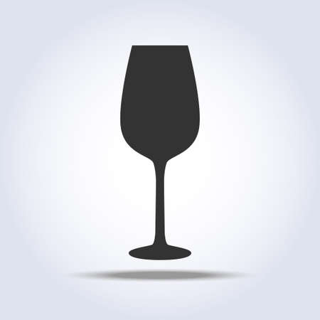 Wineglass goblet object in gray colors Stock Vector - 101676590