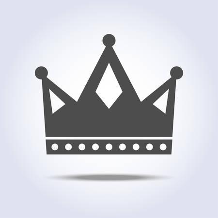 Gray colors crown icon symbol Stock Vector - 101665784