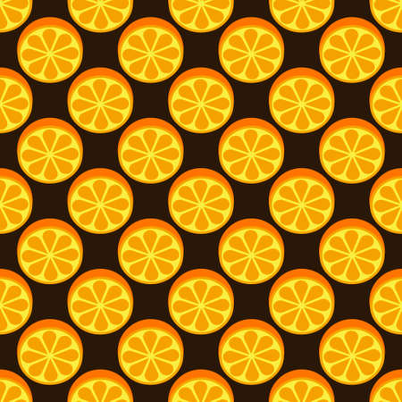 Orange fruit seamless bright pattern Illustration