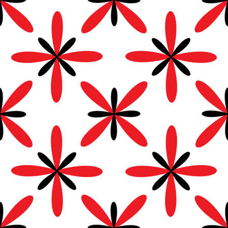 Seamless abstract grid white red pattern. Vector illustration Stock Illustratie