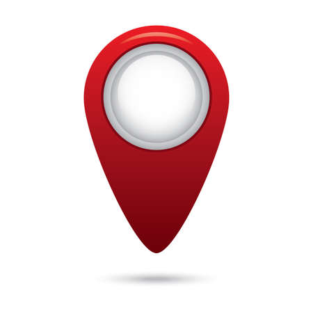 Red empty navigation map pointer marker icon. Vector illustration