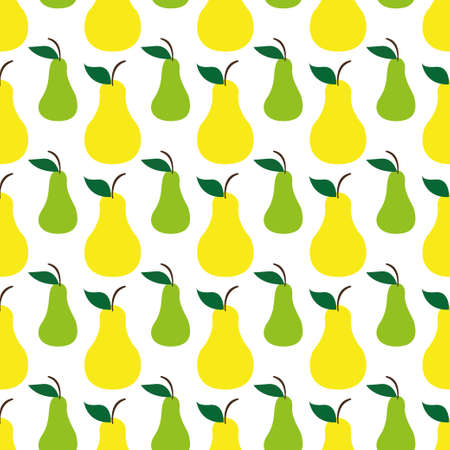 Pear green yellow seamless art pattern background. Vector illustration