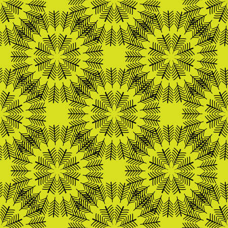 Seamless abstract vintage bright yellow pattern. Vector illustration Illustration
