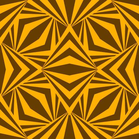 Art abstract geometric african yellow brown pattern. Vector illustration Иллюстрация