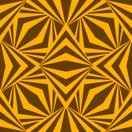 Art abstract geometric african yellow brown pattern. Vector illustration Illustration