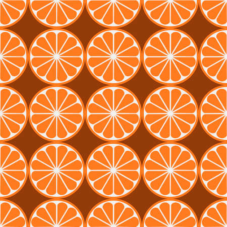 Orange fruit seamless art white pattern background. Vector illustration Illustration