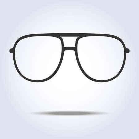 Glasses icon on gray background. Vector illustration
