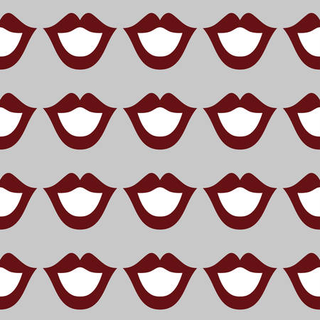 Lips seamless art texture white red color