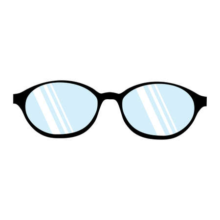 Glasses natural icon symbol on white background