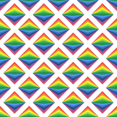 Simple art background with bright rainbow rombs