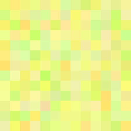 Background of art colored green squares mosaic in vector