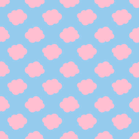 Clouds weather seamless pattern background with pink and blue color Stock Photo
