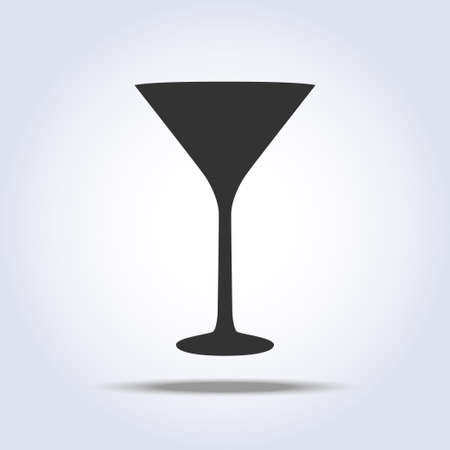 Wineglass martini glass icon object on gray background