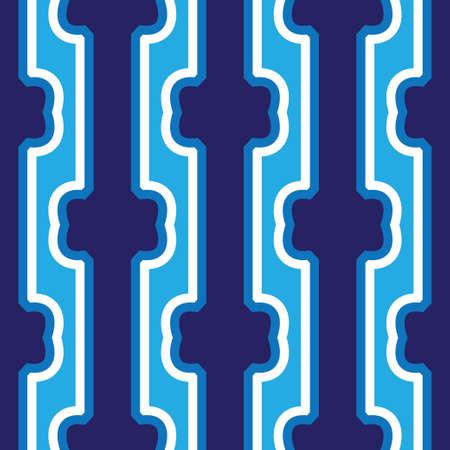 Seamless abstract dark blue vertical lines art pattern. Vector illustration Çizim