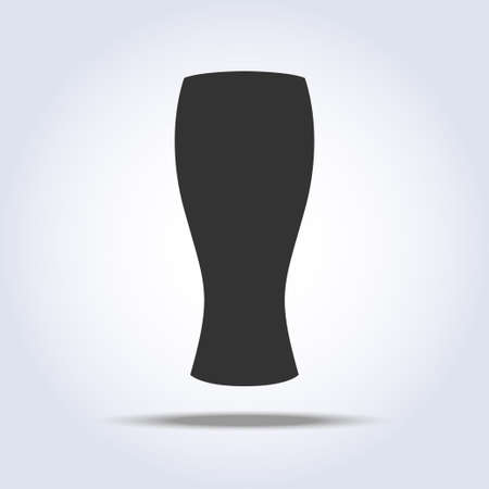 Beer glass object in gray colors