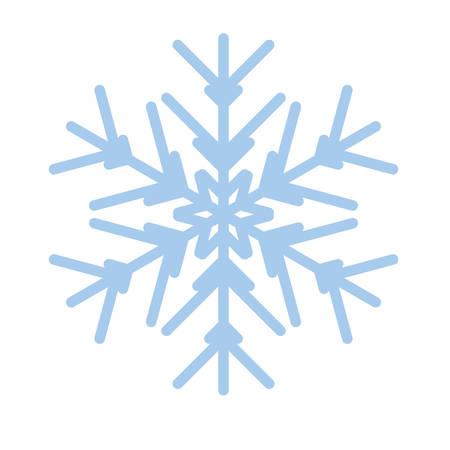 Snowflake winter new year blue art symbol icon Çizim