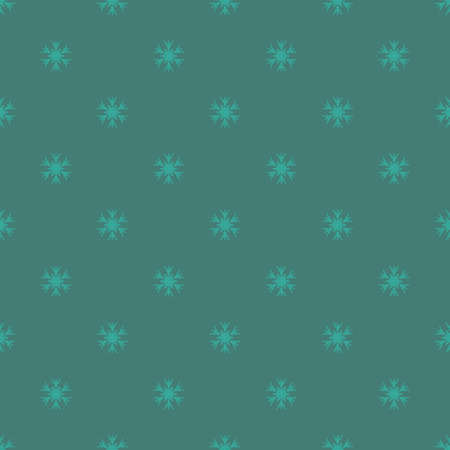 Seamless dark new year pattern with snowflakes. Vector Illustration