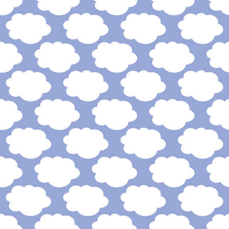 Clouds weather seamless pattern background. Vector illustration Stok Fotoğraf - 126346320