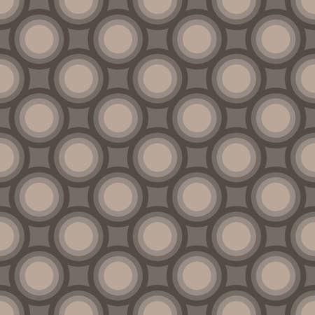 Seamless art abstract mosaic dark gray circles pattern. Vector illustration