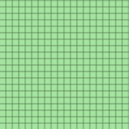 Seamless background of colored grid green mosaic in vector Çizim
