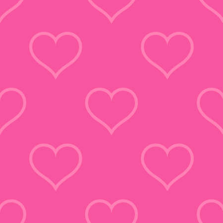 Pink hearts love seamless background pattern, Valentine day. Vector illustration Stok Fotoğraf - 126019830