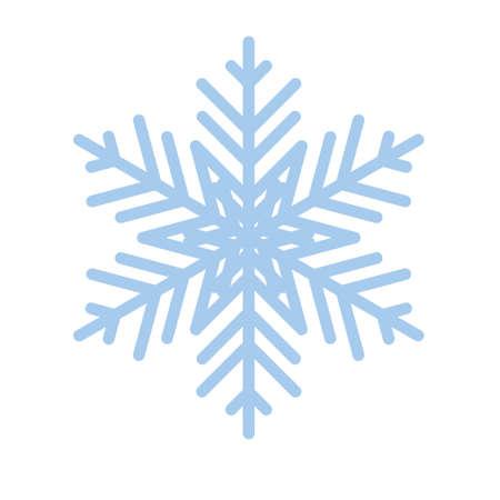 Snowflake winter new year blue art symbol icon Stok Fotoğraf - 125447735