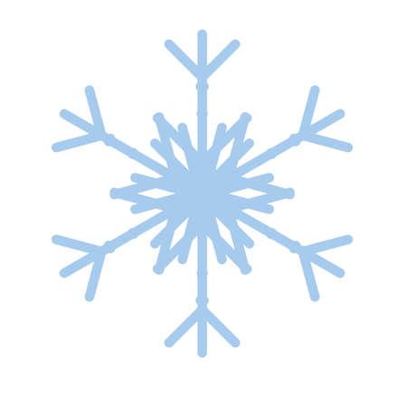 Snowflake winter new year blue art symbol icon Stok Fotoğraf - 125447738