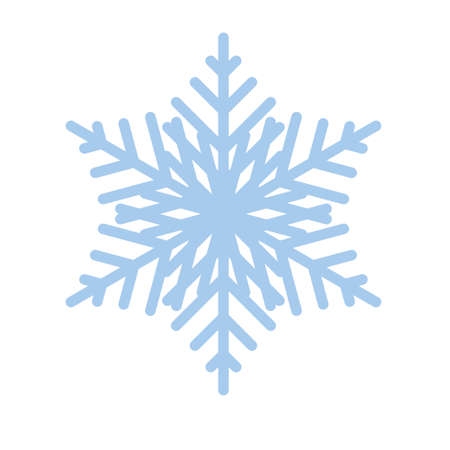 Snowflake winter new year blue art symbol icon Ilustração