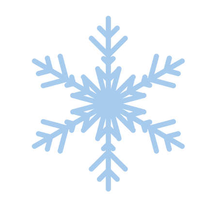 Snowflake winter new year blue art symbol icon Stok Fotoğraf - 125447742