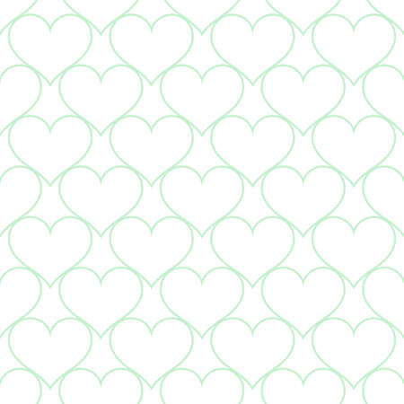 White blue hearts love seamless background pattern, Valentine day. Vector illustration