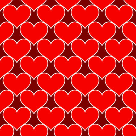Red hearts love seamless background pattern, Valentine day. Vector illustration Stok Fotoğraf - 125930137