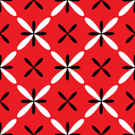 Seamless abstract grid dark white red pattern. Vector illustration